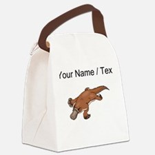 Custom Brown Platypus Canvas Lunch Bag