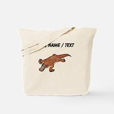 Custom Brown Platypus Tote Bag