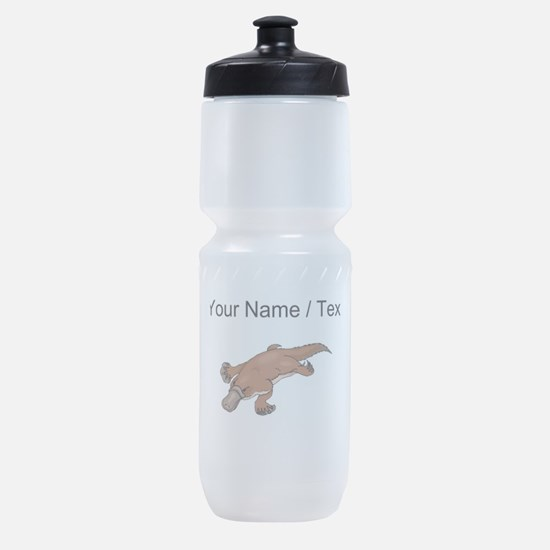 Custom Brown Platypus Sports Bottle