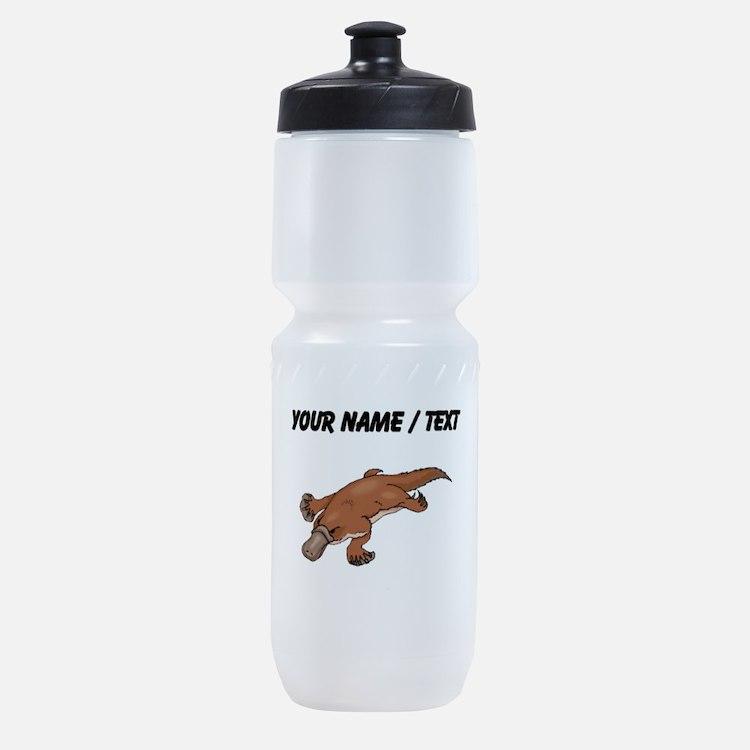 Custom Brown Platypus Sports Bottle