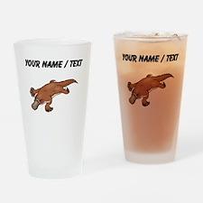 Custom Brown Platypus Drinking Glass