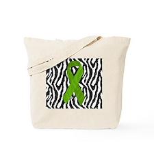 Kidney Ribbon Zebra Print Tote Bag