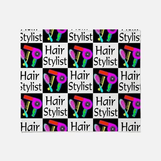 FABULOUS HAIR CUT Throw Blanket