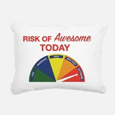 Risk of awesome today Rectangular Canvas Pillow
