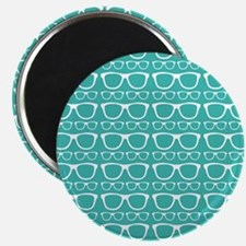 "Cute Retro Eyeglass Hipster 2.25"" Magnet (10 pack)"