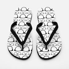 Cute Retro Eyeglass Hipster Flip Flops