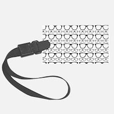 Cute Retro Eyeglass Hipster Luggage Tag