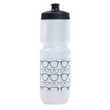 Cute Retro Eyeglass Hipster Sports Bottle