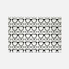 Cute Retro Eyeglass Hip Rectangle Magnet (10 pack)