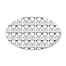 Cute Retro Eyeglass Hipster Wall Decal