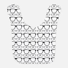 Cute Retro Eyeglass Hipster Bib