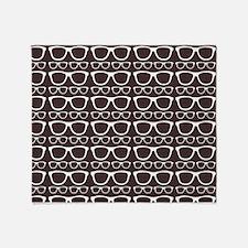 Cute Retro Eyeglass Hipster Throw Blanket