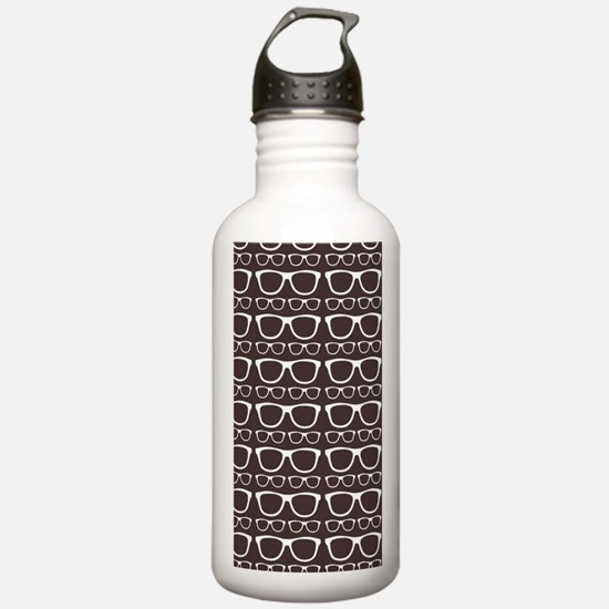Cute Retro Eyeglass Hi Sports Water Bottle