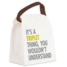 Its A Triplet Thing Canvas Lunch Bag