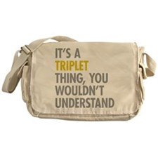 Its A Triplet Thing Messenger Bag