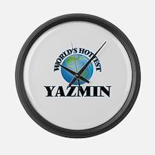 World's Hottest Yazmin Large Wall Clock