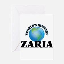 World's Hottest Zaria Greeting Cards
