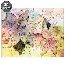 Pastel Pointsettias Puzzle