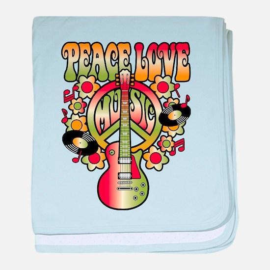 Peace Love Music baby blanket