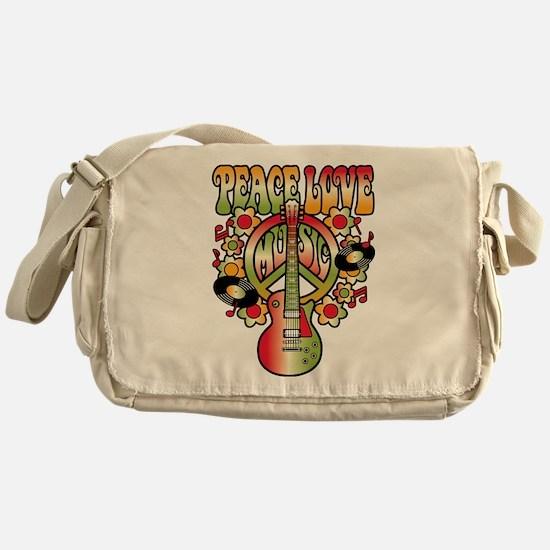 Peace Love Music Messenger Bag