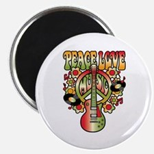 Peace Love Music Magnets