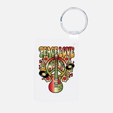 Peace Love Music Keychains