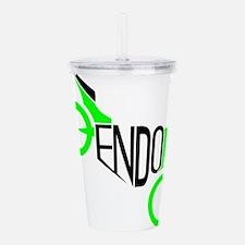 ENDO Black and Green Acrylic Double-wall Tumbler