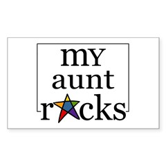 My Aunt Rocks Rectangle Sticker