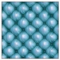 Lounge Leather - Blue Wall Art Poster