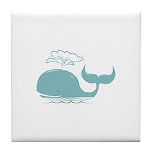 Spouting Whale Tile Coaster