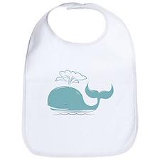 Spouting Whale Bib