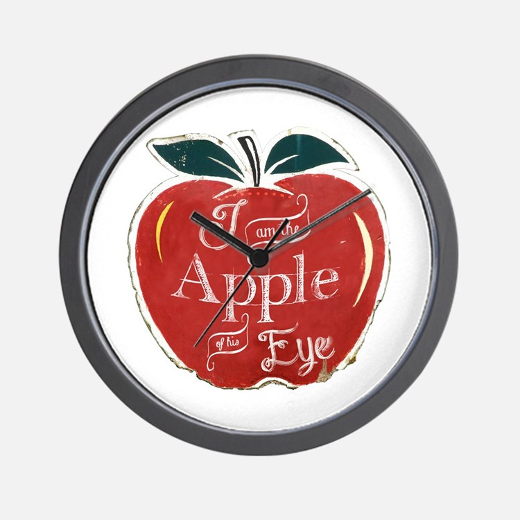 I Am The Apple Of His Eye Wall Clock