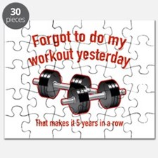 Forgot To Do My Workout Yesterday Puzzle
