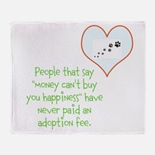 adoption happiness Throw Blanket