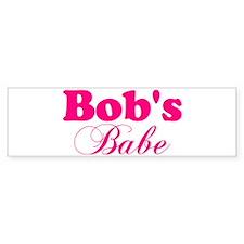 Bob's Babe Bumper Bumper Sticker