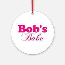 Bob's Babe Ornament (Round)