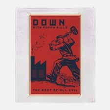 Down With Puppy Mills Throw Blanket