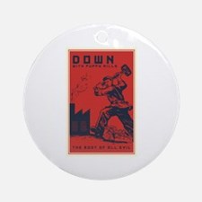 Down With Puppy Mills Ornament (Round)