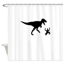 Chased By A Dinosaur Shower Curtain