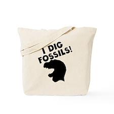 I Dig Fossils Tote Bag