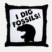 I Dig Fossils Throw Pillow