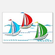 Three Yachts Racing Decal