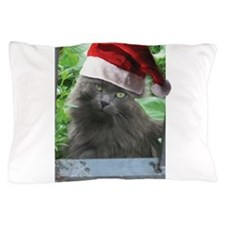 Christmas Russian Blue Long-haired Cat Pillow Case