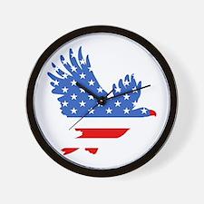 Patriotic Eagle July 4th Wall Clock