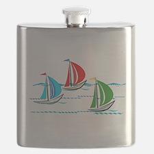 Three Yachts Racing Flask