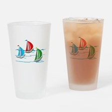Three Yachts Racing Drinking Glass