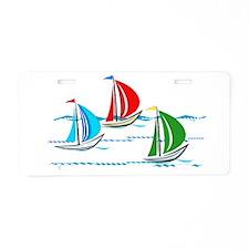 Three Yachts Racing Aluminum License Plate