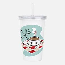 Coffee Cafe Acrylic Double-wall Tumbler