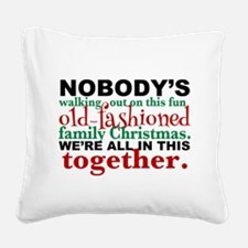 Family Christmas Square Canvas Pillow