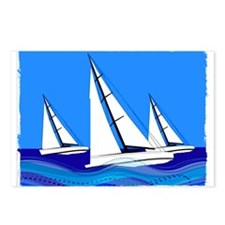 Trio of Sailboats with Ed Postcards (Package of 8)